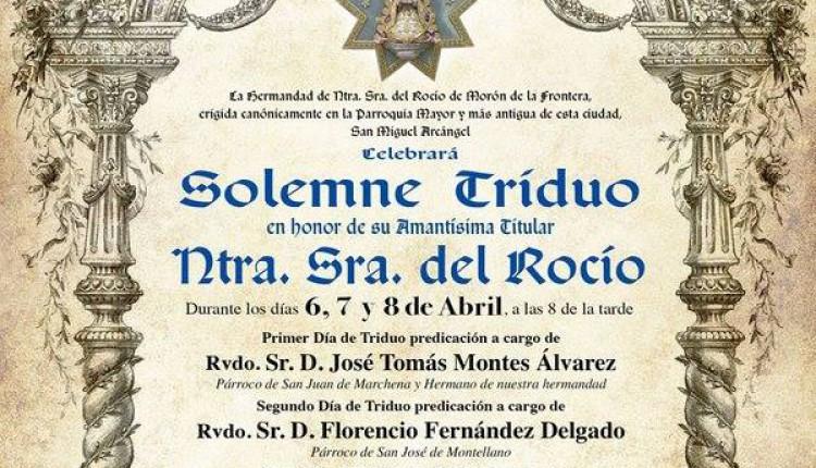 Hermandad de Morón de la Frontera – Solemne Triduo