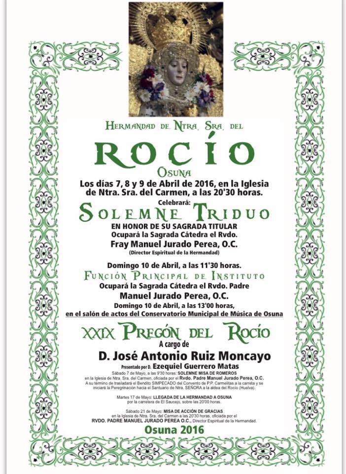 Osuna cultos rocio 2016