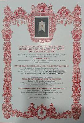 Puebla del río cultos 2016