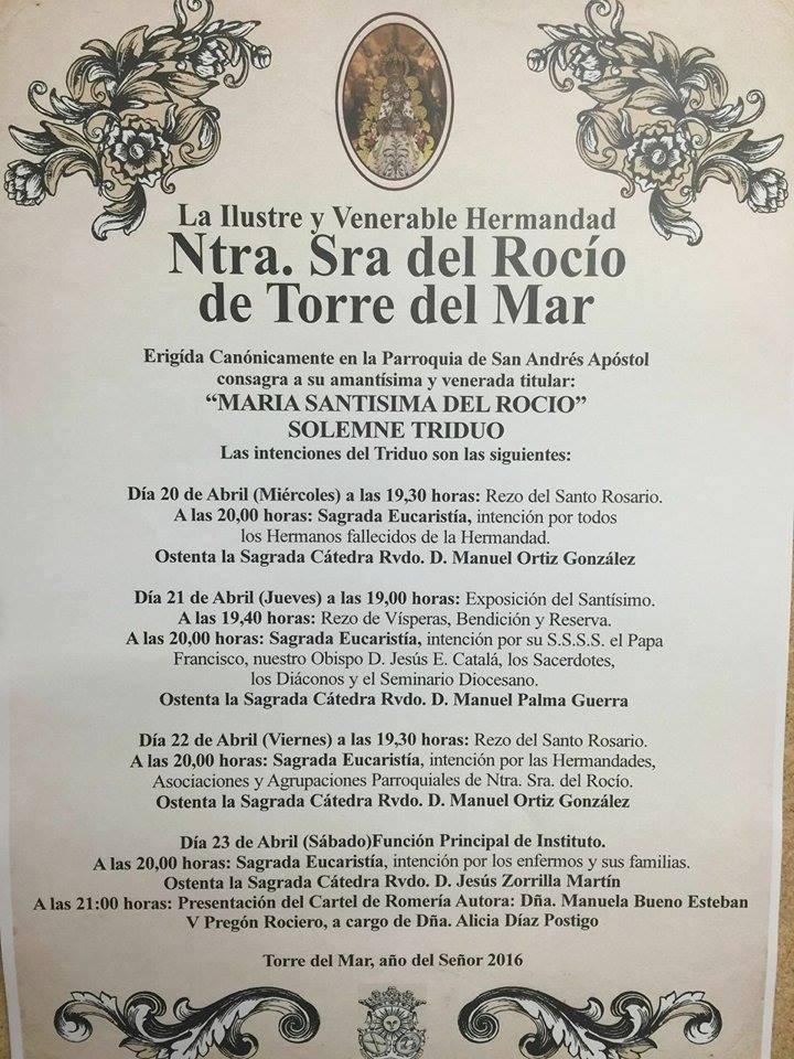 Torre del Mar Triduo y pregon 2016