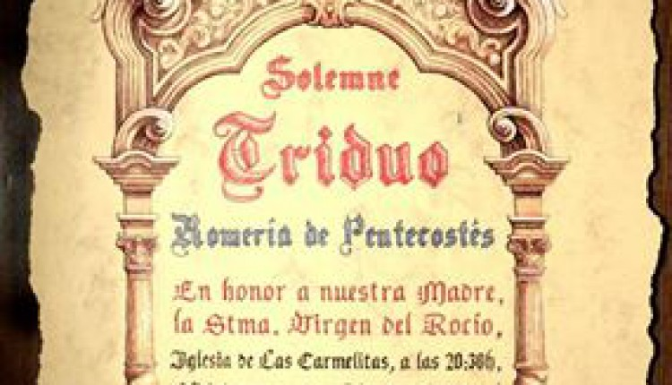 Hermandad de Vélez-Málaga – Solemne Triduo