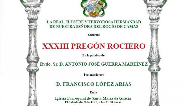 Hermandad de Camas – XXXIII Pregón del Rocío a cargo del Rvdo. Sr. Don Antonio José Guerra Martínez