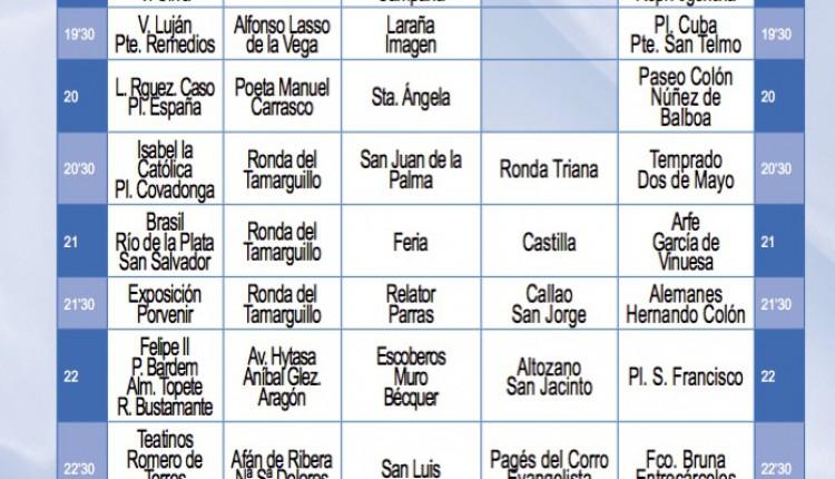 Hermandades de Sevilla Capital a la Aldea del Rocío – Itinerarios y Horarios de Salida y Llegada 2016