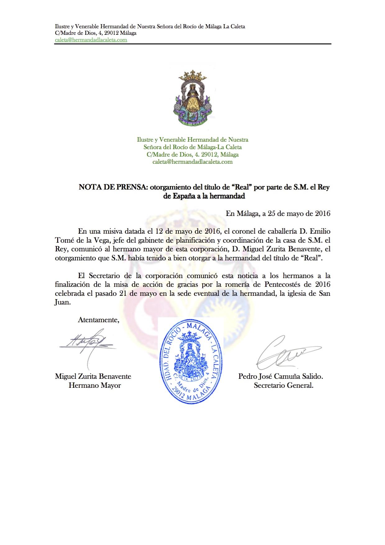 La Caleta Real Carta y credencial-0