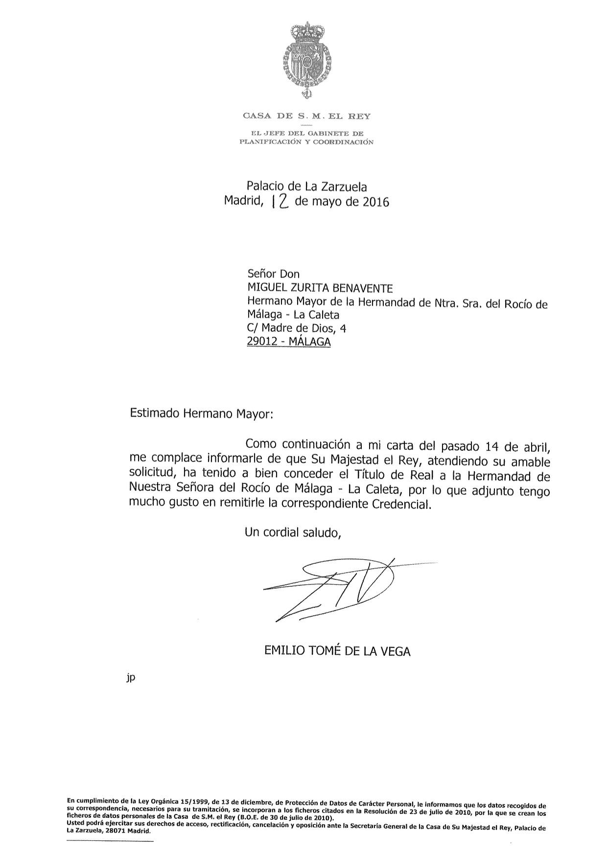 La Caleta Real Carta y credencial-2