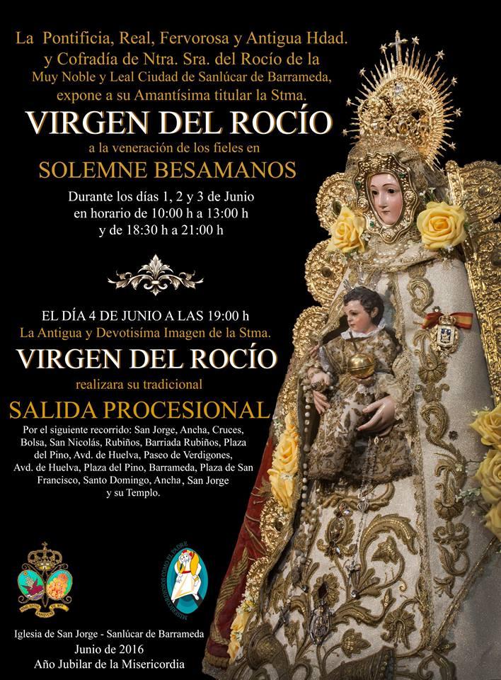 Sanlucar de barrameda besamanos y procesión 2016
