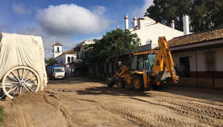 El Rocío – Los servicios de Obras Públicas están arreglando los desperfectos del temporal
