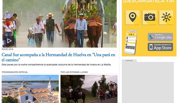 Retransmisiones en Directo Rocío 2016 Canal Sur