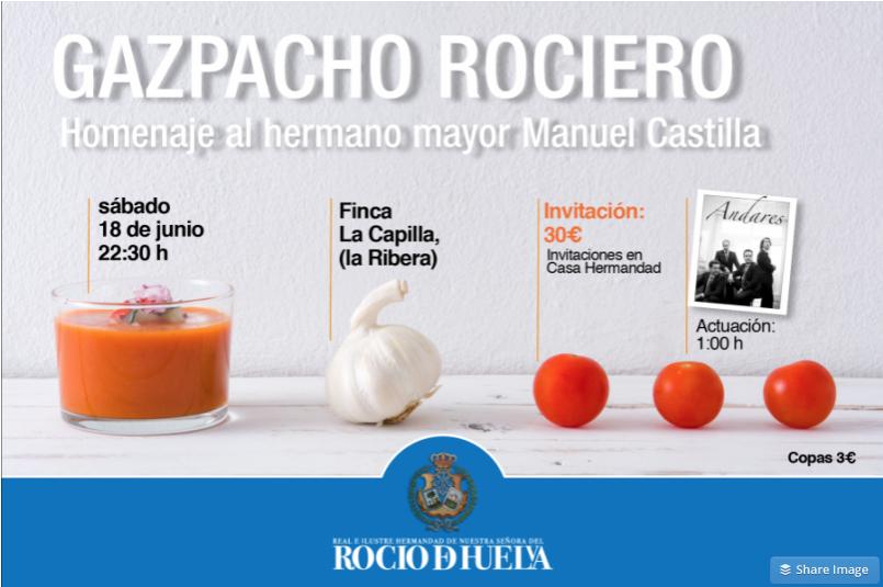 Huelva gazpacho rociero