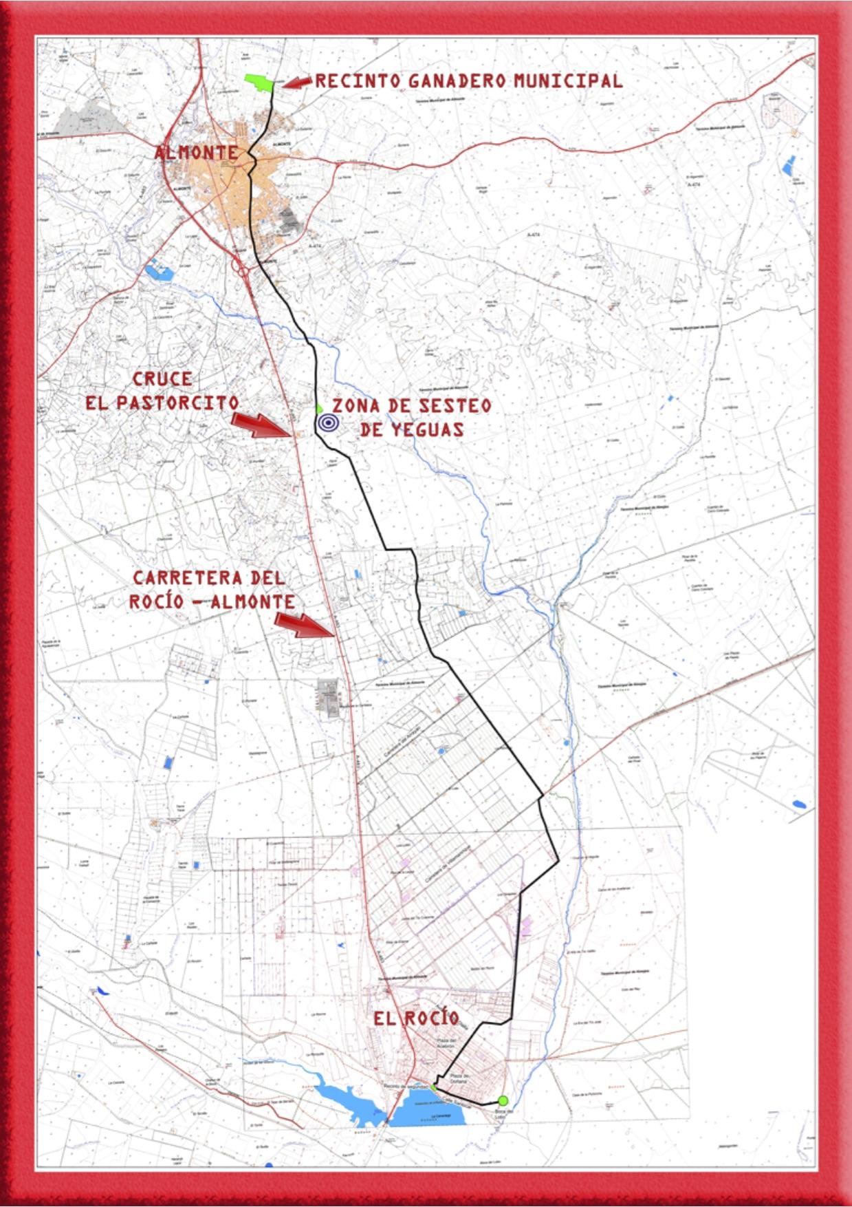 MAPA-CAMINO-yeguas-El-Rocio-Almonte