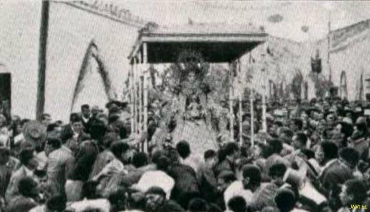 Procesión de la Virgen en Almonte en la década de 1920