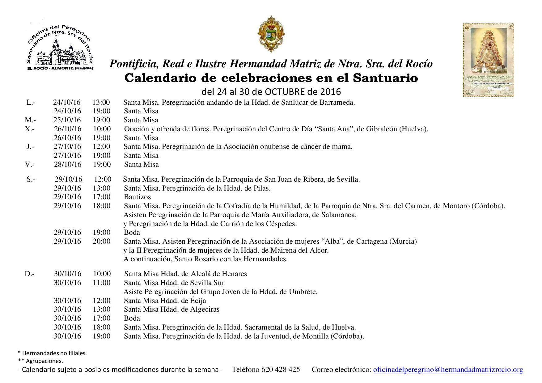 calendario-de-celebraciones-rocio-24-al-30-de-octubre-2016