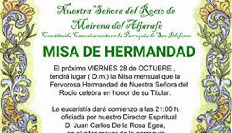 Hermandad de Mairena del Aljarafe – Misa de Hermandad