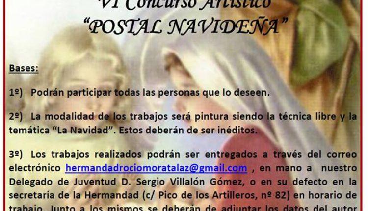 """Hermandad de Moratalaz – VI Concurso Artístico """"POSTAL NAVIDEÑA"""""""