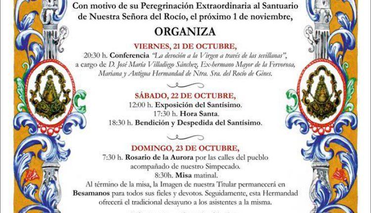 Hermandad de Olivares – Actos con motivo de su Peregrinación Extraordinaria del 1 de noviembre de 2016