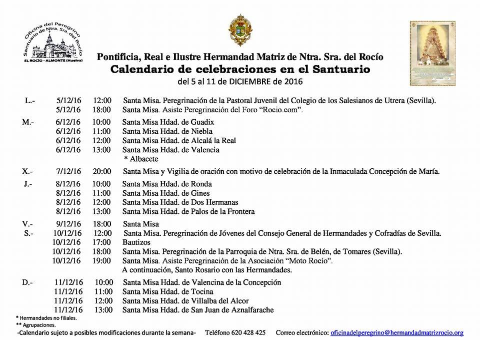calendario-celebraciones-del-5-al-11-de-diciembre-2016