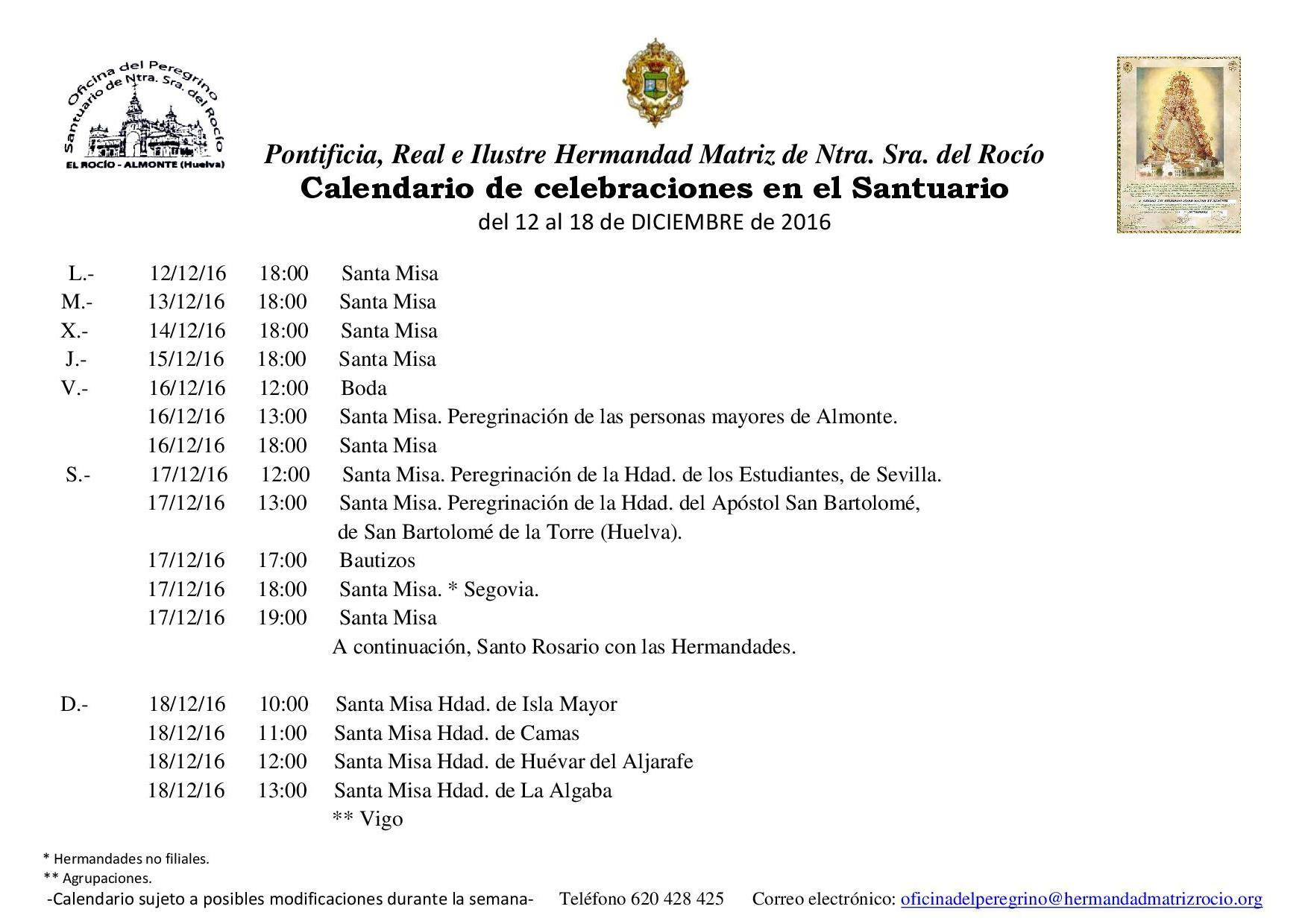 calendario-celebraciones-en-el-rocio-del-12-al-18-de-diciembre-de-2016