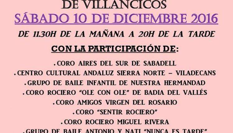 Hermandad de Sabadell – IV Festival Benéfico de Villancicos