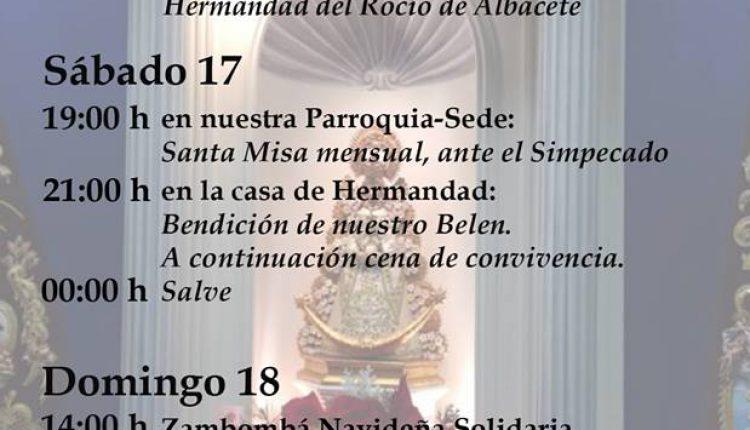 Hermandad de Valencia – Actividades del mes de diciembre de 2016