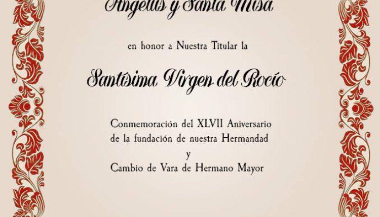 Hermandad de Barcelona – Santa Misa conmemoración de nuestro 47 Aniversario y Cambio de Vara