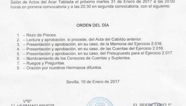 Hermandad Castrense – Cabildo General Ordinario de Cuentas