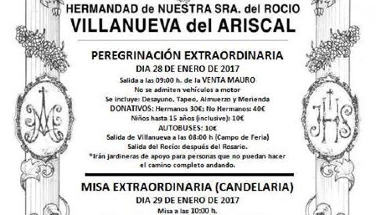 Hermandad de Villanueva del Ariscal – Peregrinación Extraordinaria al Rocío