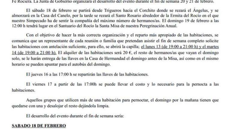 Hermandad de Trigueros – Peregrinación al Rocío 2017