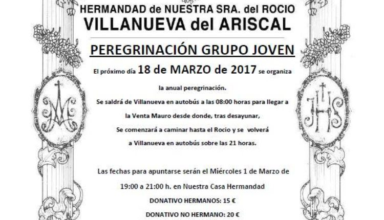 Hermandad de Villanueva del Ariscal – Peregrinación Grupo Joven al Rocío