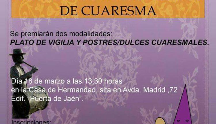 Hermandad de Jaén – Concurso Gastronómico de Cuaresma