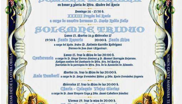 Hermandad de Algeciras – Solemne Triduo y XXXIII Pregón del Rocío