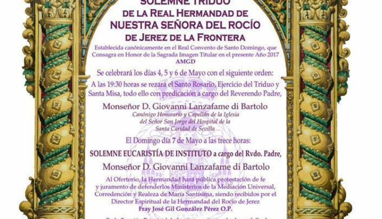 Hermandad de Jerez – Solemne Triduo 2017