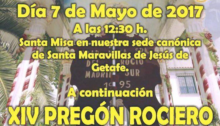 Hermandad de Madrid-Sur – Santa Misa y XIV Pregón Rociero a cargo de D. Ignacio Rivera García