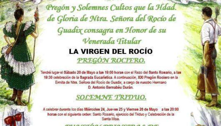 Hermandad de Madrid – Solemne Triduo y Pregón Rociero