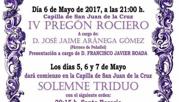 Hermandad de Medina del Campo – Solemne triduo 2017 y IV Pregón Rociero a cargo de D. José Jaime Aránega Gómez