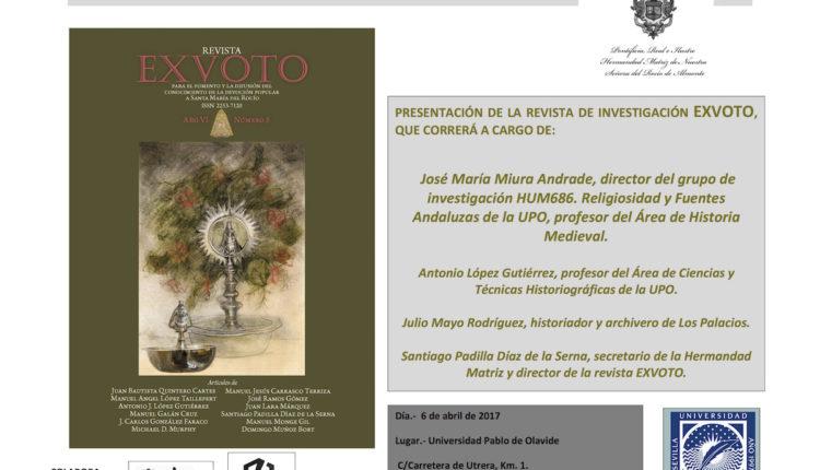 """Presentación de la Revista """"EXVOTO"""" en la Universidad Pablo Olavide de Sevilla"""