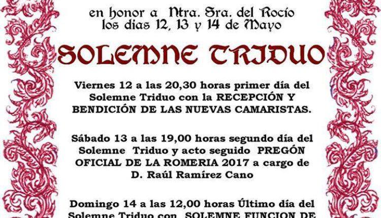 Hermandad de Valencia – Solemne Triduo 2017