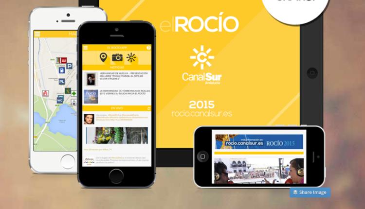 App de Canal Sur – ROCIO.COM otro año más suministra los contenidos de actualidad a esta App