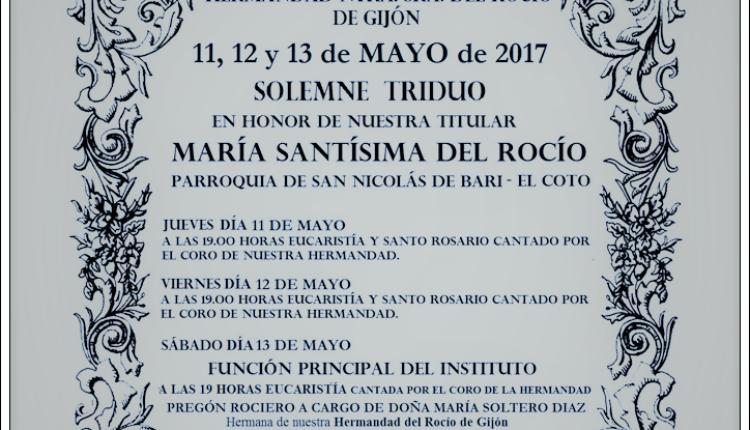 Hermandad de Gijón – Solemne Triduo y Pregón 2017