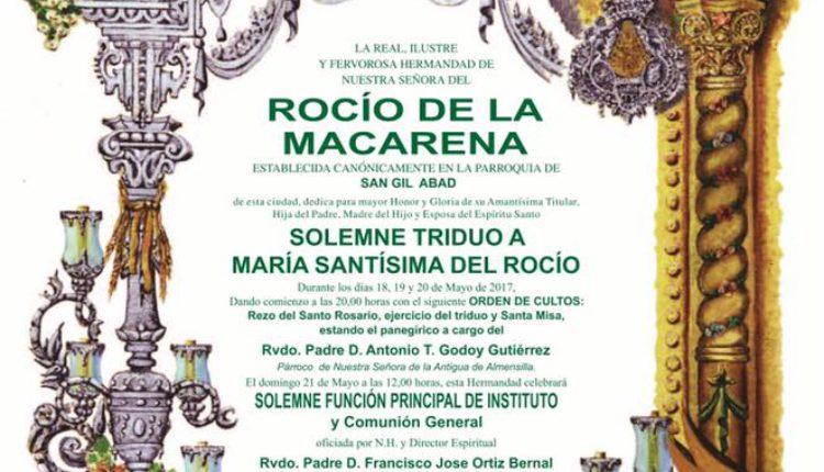 Hermandad de Macarena – Solemne Triduo 2017