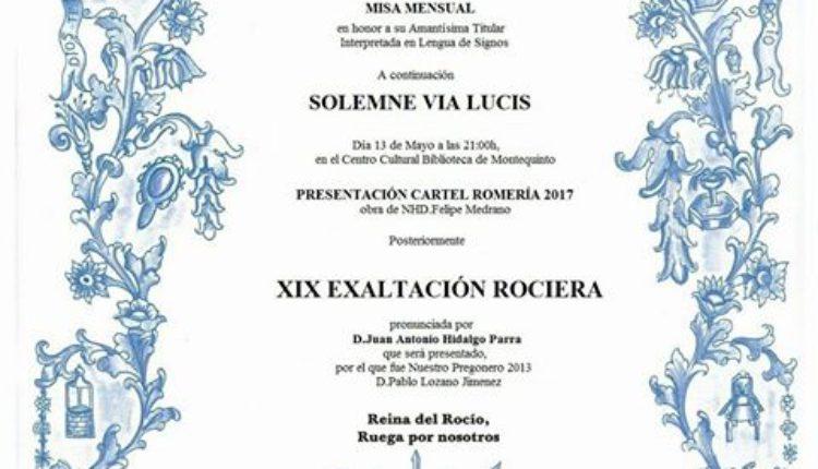 Hermandad de Montequinto – Solemne Vía Lucis y XIX Exaltación Rociera a cargo de D. Juan A. Hidalgo Parra