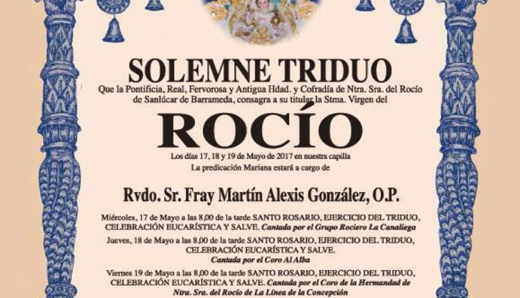 Hermandad de Sanlúcar de Barrameda – Solemne Triduo 2017