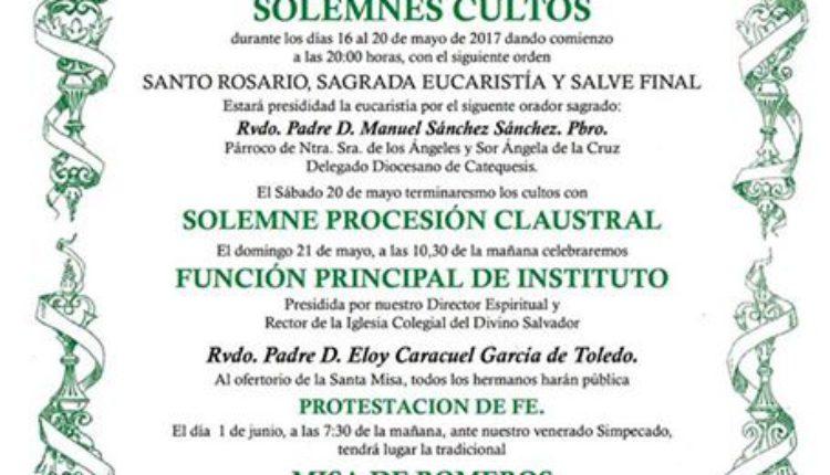 Hermandad de Sevilla El Salvador – Solemne Triduo 2017