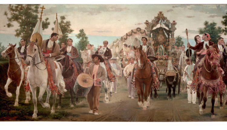 Óleo de Salvador Viniegra y Lasso de la Vega, Romería del Rocío