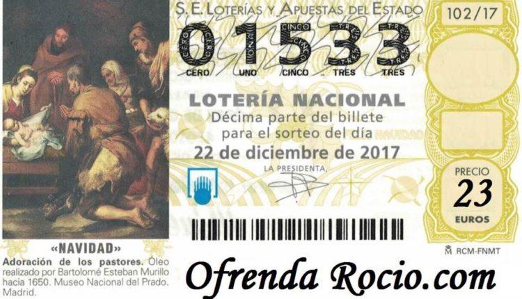 Ya tenemos el número de Lotería para la XV Ofrenda del Foro del 2017