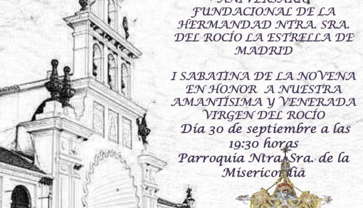 Hermandad de Madrid-La Estrella – Cierre XX Aniversario Fundacional y Sabatina