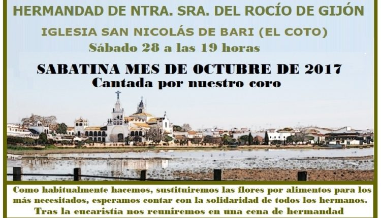 Hermandad de Gijón – Sabatina del mes de Octubre de 2017