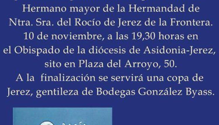 """Presentación del Libro """"Al Rocío con Platero"""" de Santiago Padilla en la Fundación Jaime González Gordon en Jerez"""