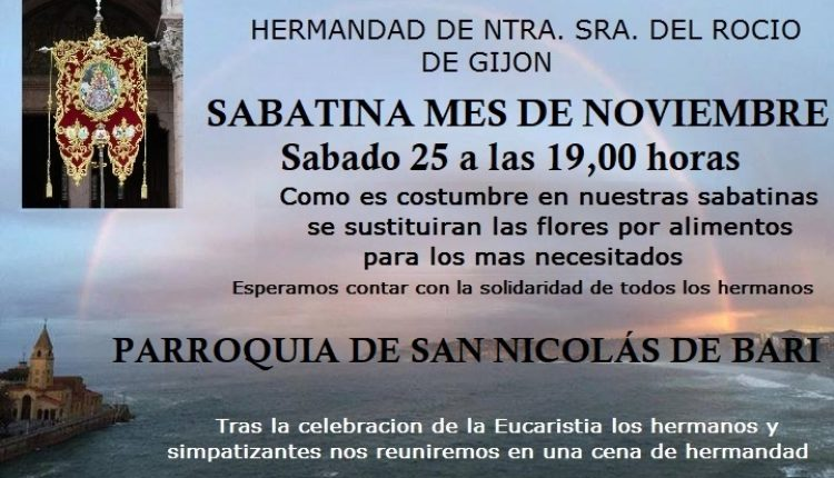 Hermandad de Gijón – Sabatina del mes de noviembre 2017
