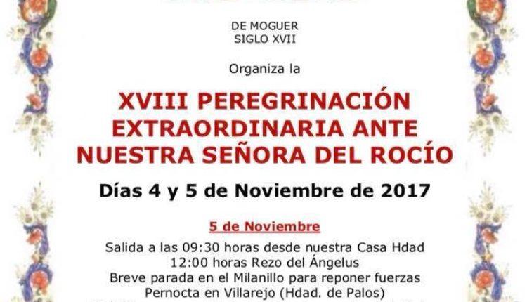 Hermandad de Moguer – Peregrinación Extraordinaria 2017