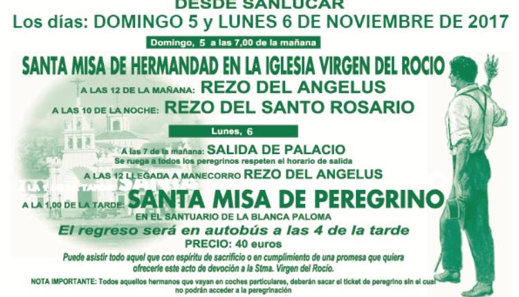 Hermandad de Sanlúcar de Barrameda – Peregrinación Andando al Rocío